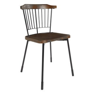 OSP Designs Ashby Rail Back Dining Chair with Wood Seat