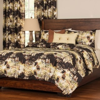 Link to Graffiti 6-piece Duvet Cover Set with Insert King Size in Brown/ Beige (As Is Item) Similar Items in As Is
