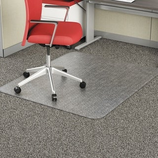 Occasional Use Studded Chair Mat for Flat Carpet, 46 x 60, RECT, CR