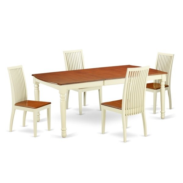 Cherry Kitchen Table And Chairs: Shop DOIP5-BMK-W 5 PC Kitchen Tables And Chair Set With
