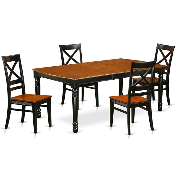 Cherry Kitchen Table And Chairs: Shop DOQU5-BCH-W 5 PC Kitchen Tables And Chair Set With