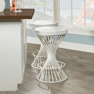 Carbon Loft Britton Backless Non-swivel White Counter Stool