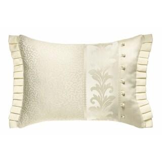 Five Queens Court Button Accent Luxe Boudoir Pillow