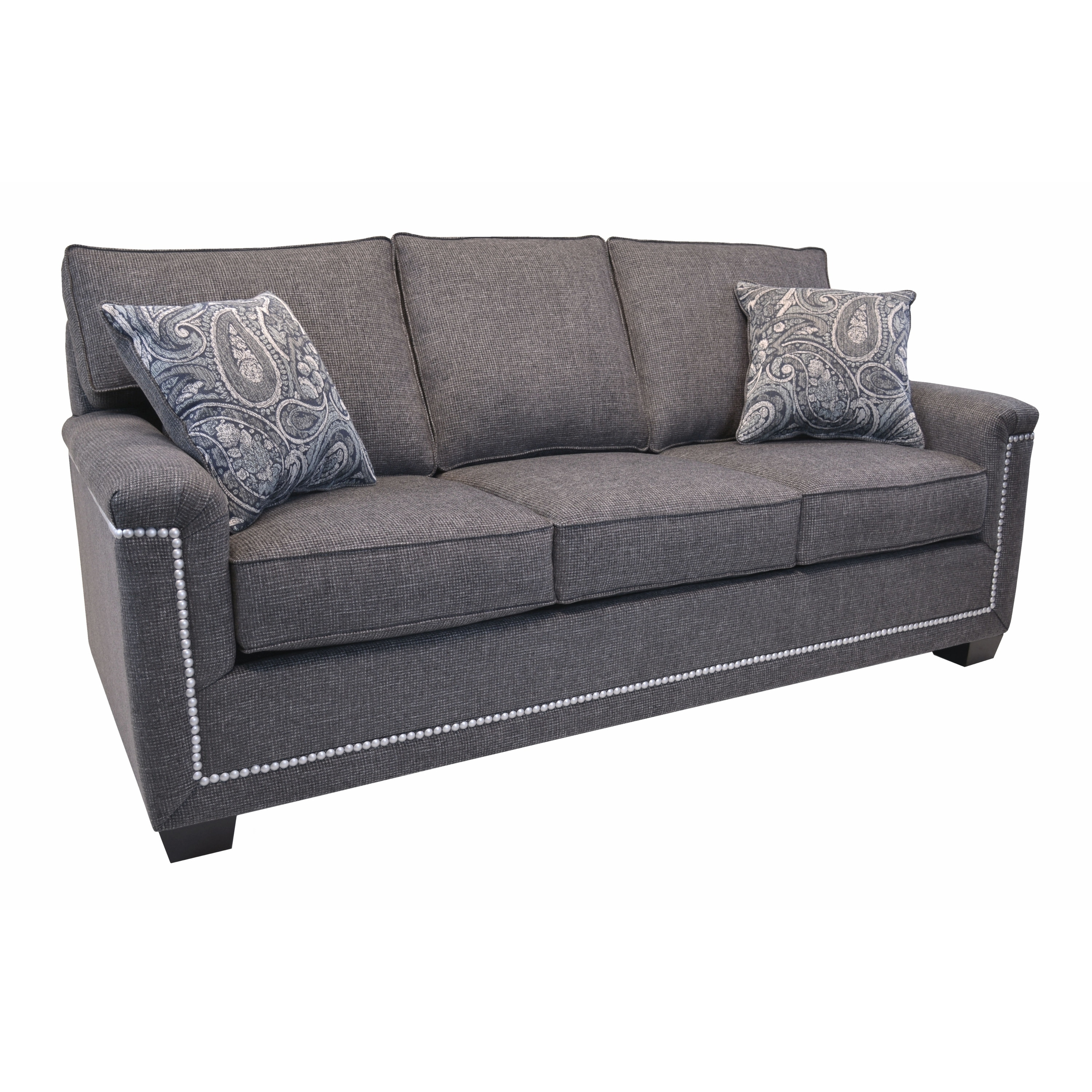 Marvelous Simone Grey Fabric Sofa With Nailhead Trim Forskolin Free Trial Chair Design Images Forskolin Free Trialorg