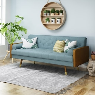 Jalon Tufted Fabric Sofa by Christopher Knight Home