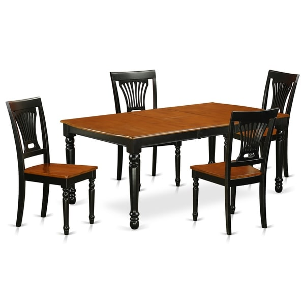 Cherry Kitchen Table And Chairs: Shop DOPL5-BCH-W 5 PC Kitchen Tables And Chair Set With