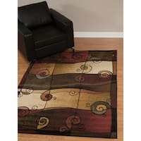 "Westfield Home Dutchess Timon Olive Area Rug - 7'10"" x 10'6"""