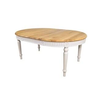 Badi Solid Wood Oval Dining Table - Oak