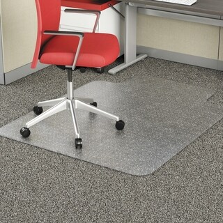 Occasional Use Studded Chair Mat for Flat Pile Carpet,36 x 48, Clr