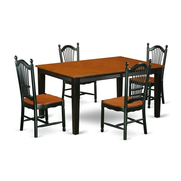 Cherry Kitchen Table And Chairs: Shop QUDO5-BCH-W 5 Pc Kitchen Table Set With A Dining