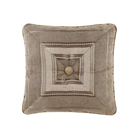 Five Queens Court Mitered Stripe Tufted Luxe Throw Pillow