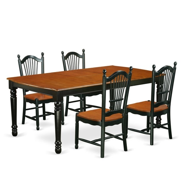 Cherry Kitchen Table And Chairs: Shop DOVE5-BCH-W 5 PC Kitchen Tables And Chair Set With