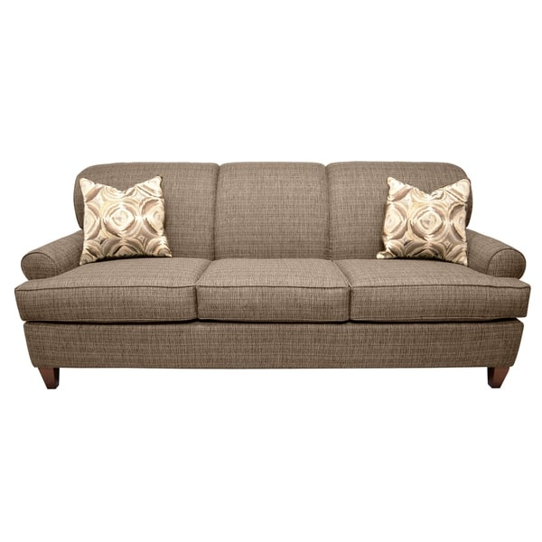 Martina Brown Tweed Fabric Sofa