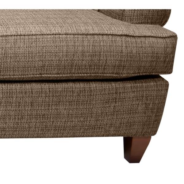 Martina Brown Tweed Fabric Sofa