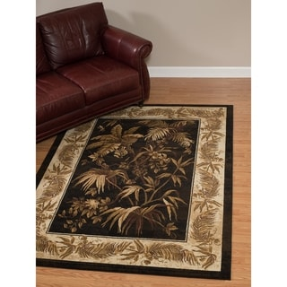 "Westfield Home Dutchess Louie Black Area Rug - 7'10"" x 10'6"""