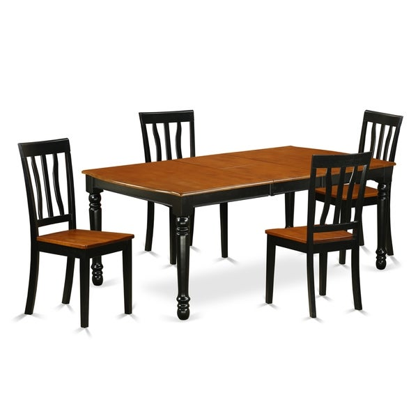 Cherry Kitchen Table And Chairs: Shop DOAN5-BCH-W 5 PC Kitchen Tables And Chair Set With