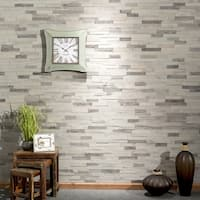 """Aspect Peel n Stick Wood 6.5"""" x 24"""" Tile 5 pack- Weathered Barn  ( approx. 5 sq ft)"""