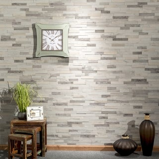 "Aspect Peel n Stick Wood 6.5"" x 24"" Tile 5 pack- Weathered Barn ( approx. 5 sq ft)"