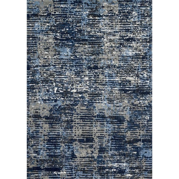 Alexander Home Cassidy Modern Abstract Area Rug On Sale Overstock 21869306 Dark Blue Grey 3 1 X 5 7