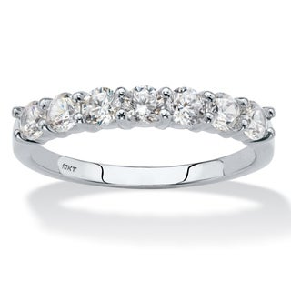 10K White Gold Cubic Zirconia Ring (5 options available)