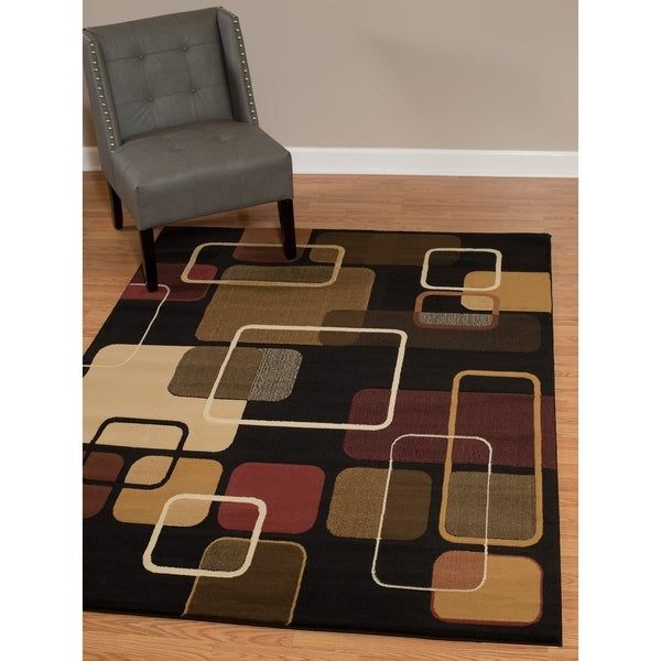 "Westfield Home Dutchess Zazu Black Area Rug - 7'10"" x 10'6"""