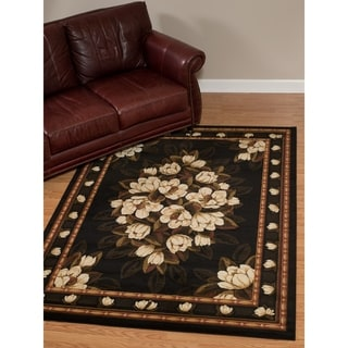 "Westfield Home Dutchess Clarabelle Black Area Rug - 7'10"" x 10'6"""