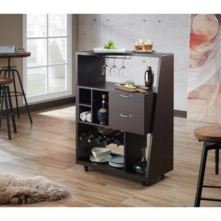 Furniture of America Connors Contemporary Walnut Mini Bar