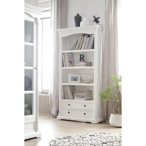 The Gray Barn Ora White Mahogany Bookcase