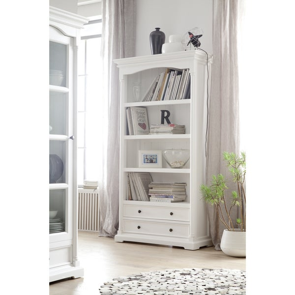 Havenside Home North Bend White Mahogany Bookcase