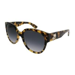 Moschino Cat-Eye 013/S SCL 9O Women Yellow Havana Frame Dark Grey Gradient Lens Sunglasses