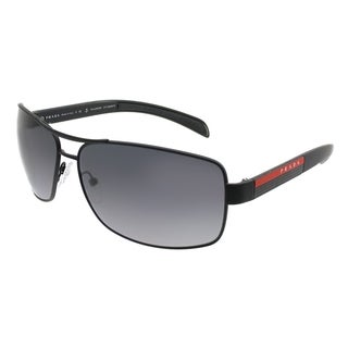 Prada Linea Rossa Aviator PS 54IS DG05W1 Unisex Black Rubber Frame Grey Gradient Polarized Lens Sunglasses
