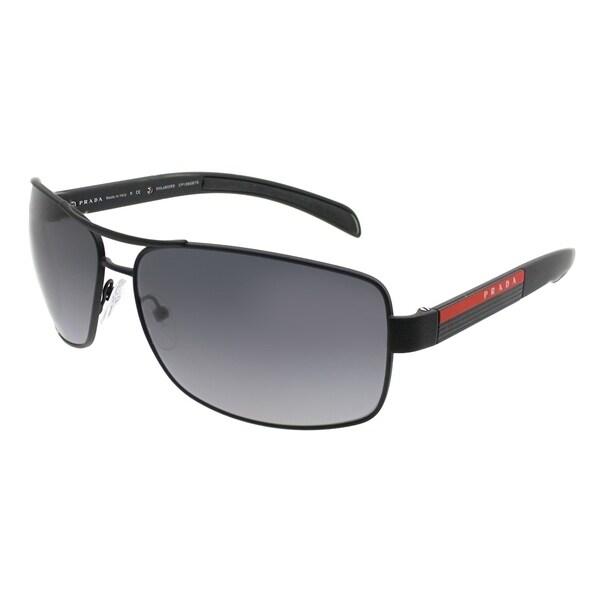 2e37e7771371 Prada Linea Rossa Aviator PS 54IS DG05W1 Unisex Black Rubber Frame Grey  Gradient Polarized Lens Sunglasses