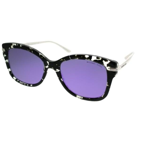 3b06a8b79e Michael Kors Square MK 2047 Lia 32434V Women Grey Leopard Frame Purple  Mirror Lens Sunglasses