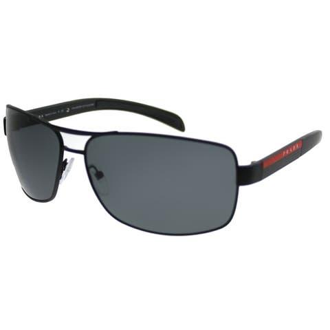 Prada Linea Rossa Aviator PS 54IS DG05Z1 Unisex Black Rubber Frame Grey Polarized Lens Sunglasses