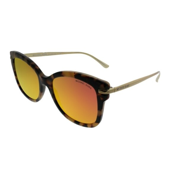 c6970920b Michael Kors Square MK 2047 Lia 32446Q Women Dark Vintage Tortoise Frame  Red Mirror Lens Sunglasses