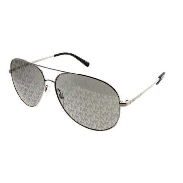 39371c4c3235 Michael Kors Aviator MK 5016 Kendall 1137R0 Women Shiny Silver Frame  Lavender MK Printed Mirror Lens