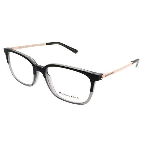03370485b63f ... Michael Kors Rectangle MK 4047 Bly 3280 Women Black Transparent Grey  Frame Eyeglasses ...