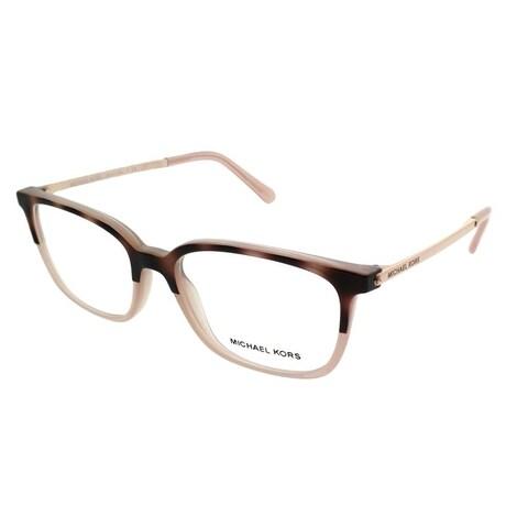 Michael Kors Rectangle MK 4047 Bly 3277 Women Pink Tort Milky Pink Frame Eyeglasses
