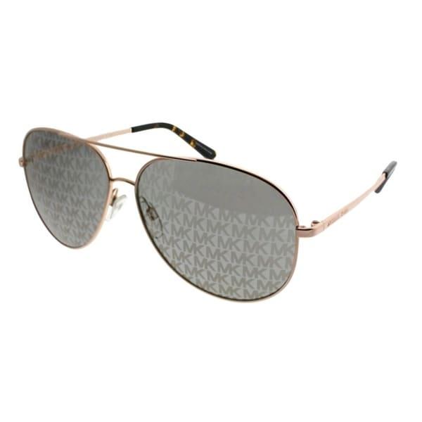 bf5d31dcdae4c Michael Kors Aviator MK 5016 Kendall 1026R0 Women Shiny Rose Gold Frame  Lavender MK Printed Mirror