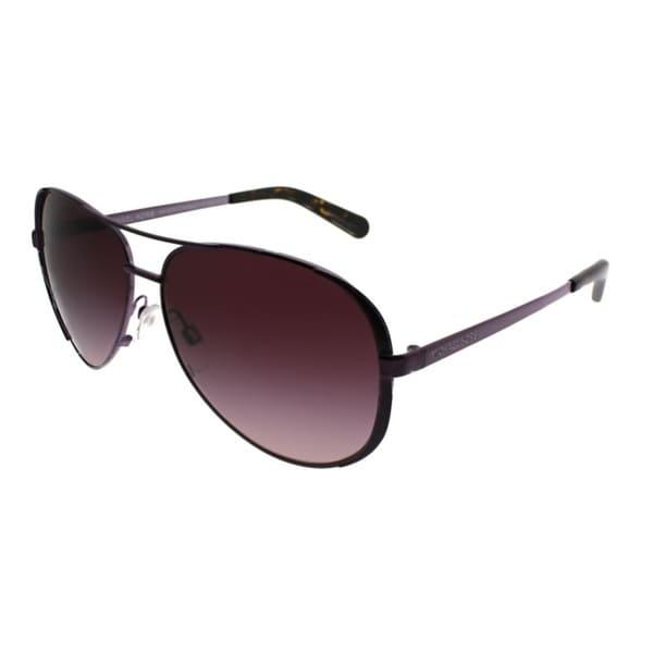 ff1d0aaf398b Michael Kors Aviator MK 5004 Chelsea 11588H Women Plum Frame Burgundy  Gradient Lens Sunglasses