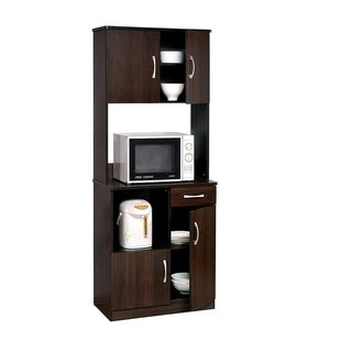 Spacious Kitchen Cabinet , Espresso Brown