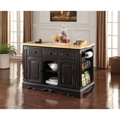Wooden Kitchen Cabinet, Black (Granite Cutting Board)