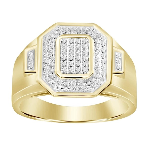 610c2c928061ad Shop 1/4 cttw Mens Engagement Ring Round White Diamond 10kt Yellow Gold. -  On Sale - Free Shipping Today - Overstock - 21872150