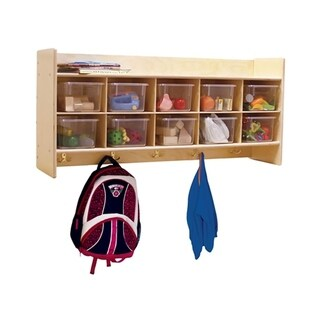 Contender C51401 Wall Locker and Cubby Storage with 10 Translucent Trays