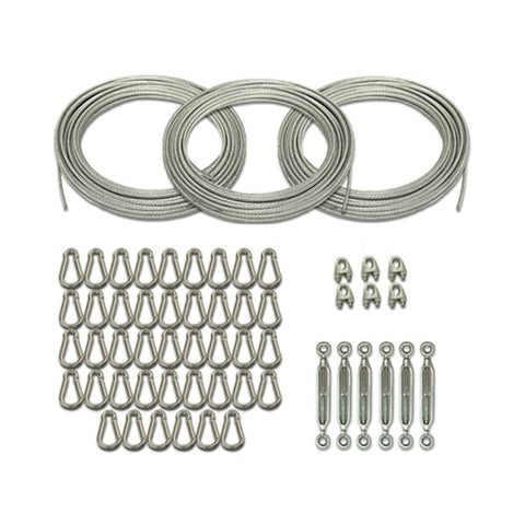 Cimarron Sports 55' Batting Cage Kit with Cables, Carabiners, Turnbuckles and Small U Bolts