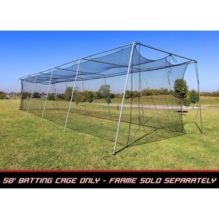 Link to Cimarron Sports 50x12x10 No 24 Polyethylene Batting Cage Net Only Similar Items in Team Sports Equipment