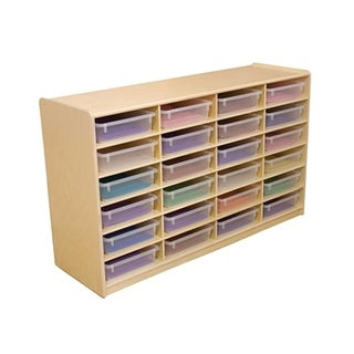 """Wood Designs WD17461 (24) 3"""" Letter Tray Storage Unit with Translucent Trays"""