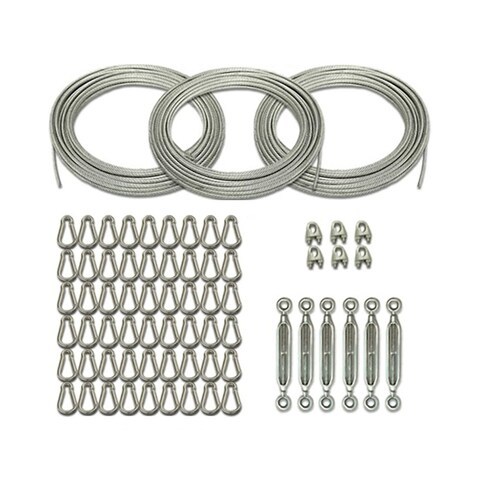 Cimarron Sports 70' Batting Cage Kit with Cables, Carabiners, Turnbuckles and Small U Bolts