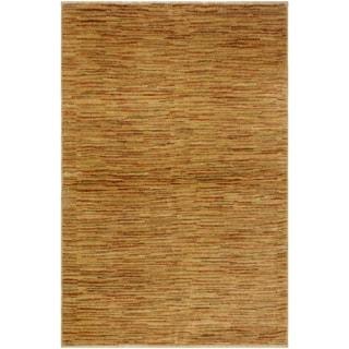 Gabbeh Jaquelin Tan/Rust Wool Area Rug (4'3 x 5'9) - 4 ft. 3 in. x 5 ft. 9 in.