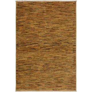 Gabbeh Janee Tan/Rust Wool Area Rug (3'10 x 5'9) - 3 ft. 10 in. x 5 ft. 9 in.